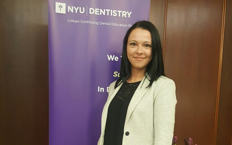 Andreea Cosic cursos universidad Nueva York implantes dentales