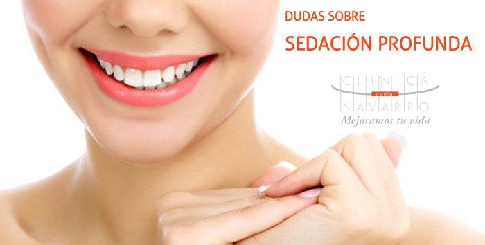 dudas sobre sedación profunda en tratamientos dentales