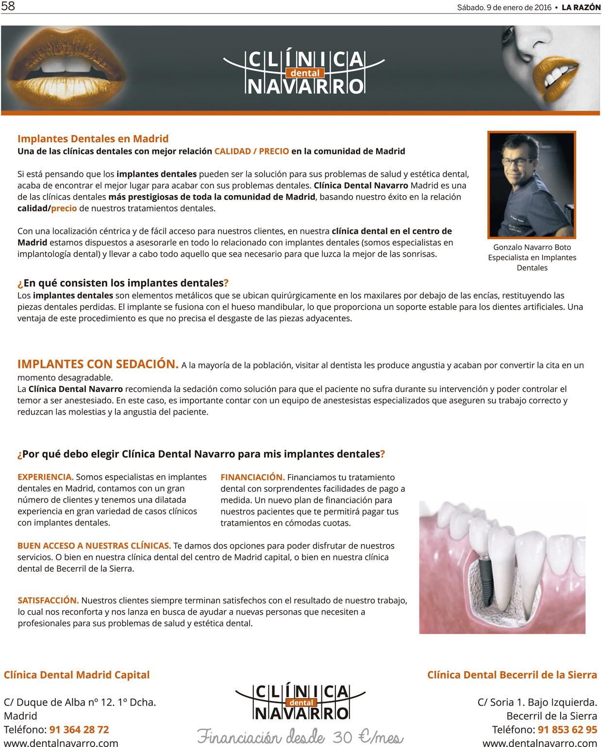 publicacion dental Navarro Mardrid diario La Razón