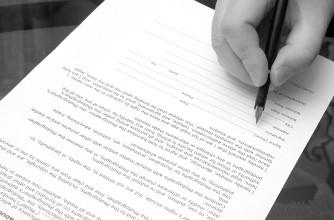 Firmando un presupuesto
