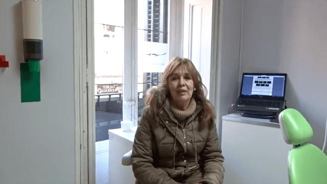 opinion sobre nuestra clínica dental en Madrid de parte de nuestra paciente María